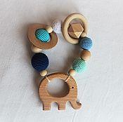 """Куклы и игрушки handmade. Livemaster - original item Teething toy. The teether. Kingarturo """"Elephant"""". Handmade."""