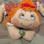 Куклы и игрушки ручной работы. Ярмарка Мастеров - ручная работа Кукла - лёжка Апельсинка.. Handmade.