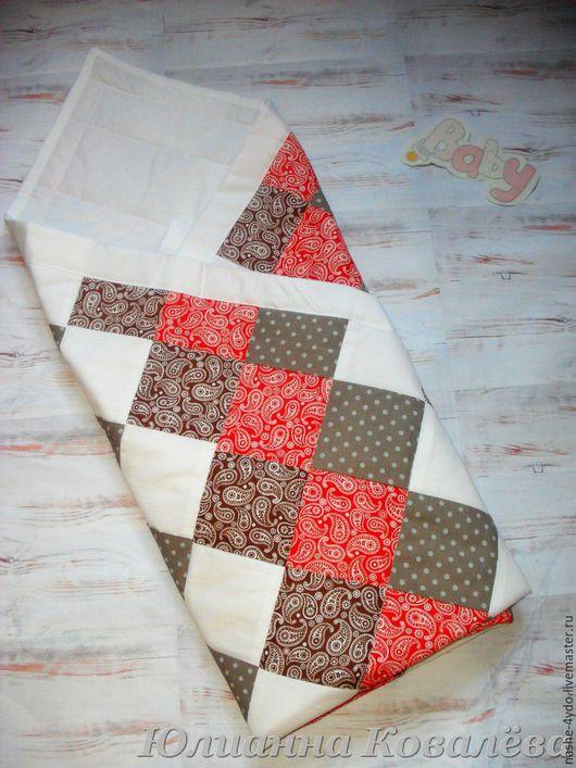Для новорожденных, ручной работы. Ярмарка Мастеров - ручная работа. Купить Лоскутное одеяло. Handmade. Комбинированный, одеяло на выписку