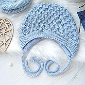 """Работы для детей, handmade. Livemaster - original item Чепчик, вязаный чепчик """"Облачко"""". Handmade."""