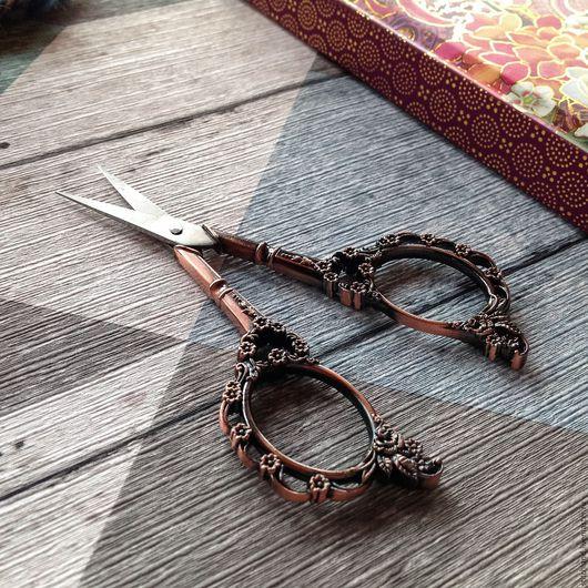 Шитье ручной работы. Ярмарка Мастеров - ручная работа. Купить Ножницы в ретро-стиле «Цветы». Handmade. Ножницы, ретро, винтаж