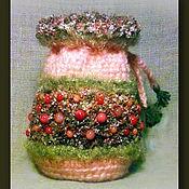"""Фен-шуй и эзотерика ручной работы. Ярмарка Мастеров - ручная работа Мешочек для Рун """"Брусничное утро"""". Handmade."""