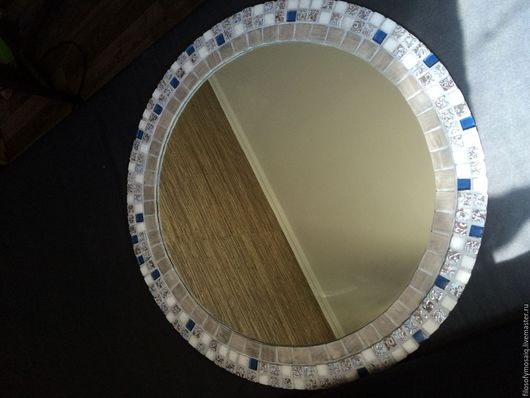 Зеркала ручной работы. Ярмарка Мастеров - ручная работа. Купить Зеркало с мраморной, стеклянной и керамической мозаико. Handmade. Зеркало, мозаика