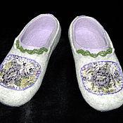 """Обувь ручной работы. Ярмарка Мастеров - ручная работа Валяные женские тапочки """"Прованс"""". Handmade."""