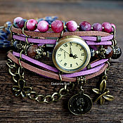 Watches handmade. Livemaster - original item Women`s wrist watch with natural stones