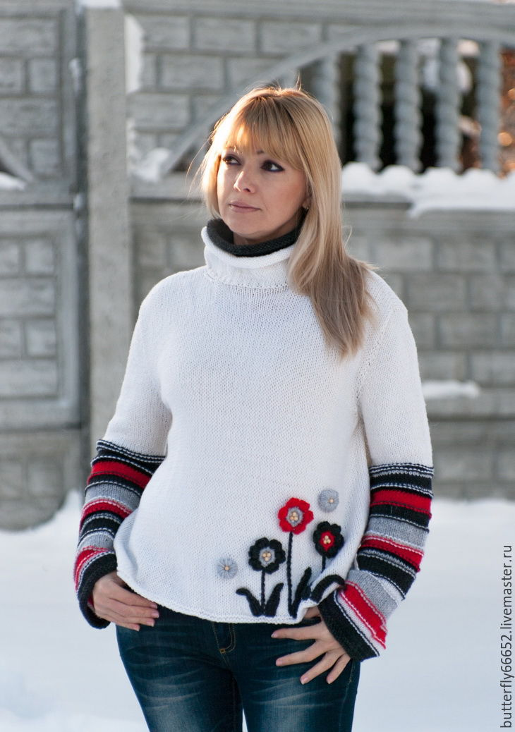 Свитера ручной вязки женские с доставкой