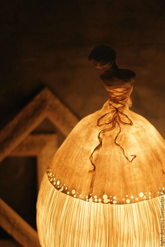 Светильник из папье маше Балерина 2. Light Dreams.