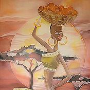 """Картины и панно ручной работы. Ярмарка Мастеров - ручная работа панно """"Африка"""". Handmade."""