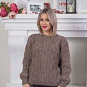 Одежда ручной работы. Ярмарка Мастеров - ручная работа Осенний кофе- свитер, кофточка вязаная из альпаки. Handmade.