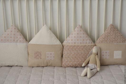 Детская ручной работы. Ярмарка Мастеров - ручная работа. Купить Бортики домики в детскую кроватку. Handmade. Бортики в кроватку