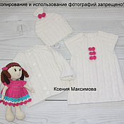 Работы для детей, handmade. Livemaster - original item blouse mother`s joy with a sundress and a hat. Handmade.