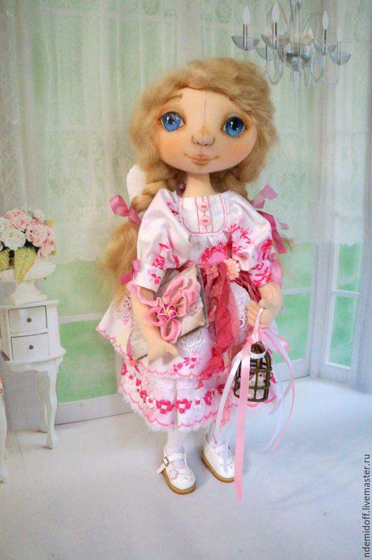 Коллекционные куклы ручной работы. Ярмарка Мастеров - ручная работа. Купить Ангел заветных желаний. Handmade. Бледно-розовый