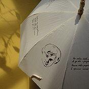 Аксессуары ручной работы. Ярмарка Мастеров - ручная работа зонт со стихами Есенина. Handmade.