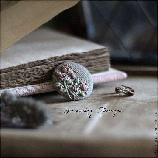Броши ручной работы. Ярмарка Мастеров - ручная работа. Купить Пыльная роза. Брошь. Handmade. Бледно-розовый, винтаж, ретро