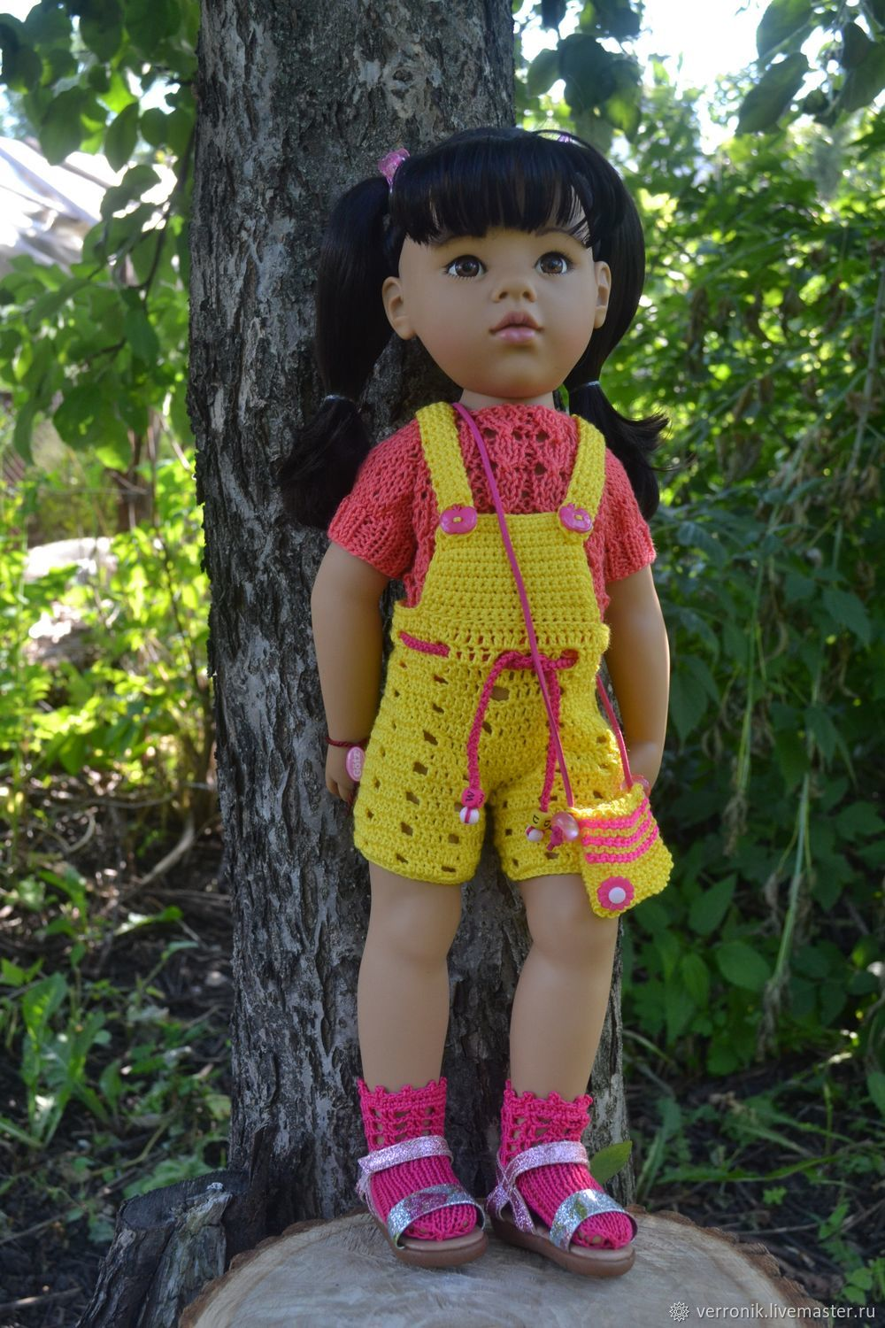 Jumpsuit, pullover, socks and bag for Gotz doll, Clothes for dolls, Samara,  Фото №1