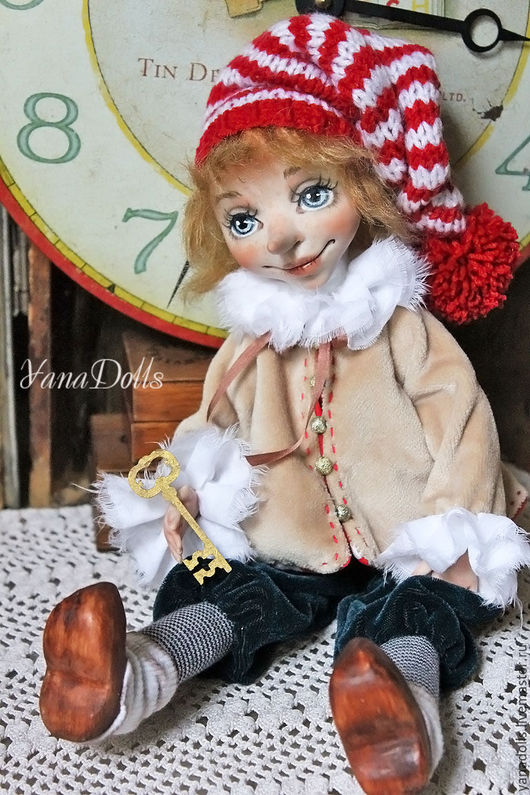 Коллекционные куклы ручной работы. Ярмарка Мастеров - ручная работа. Купить БУ-РА-ТИ-НО. Handmade. Ярко-красный
