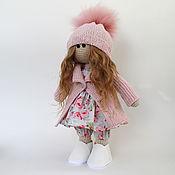 Куклы и игрушки handmade. Livemaster - original item Interior doll, pink. Doll for gift, textile. Handmade.