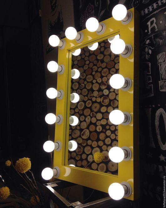 Дизайн интерьеров ручной работы. Ярмарка Мастеров - ручная работа. Купить Гримерное зеркало YELLOW GLASS.. Handmade. Желтый