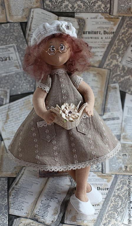 Человечки ручной работы. Ярмарка Мастеров - ручная работа. Купить Текстильная кукла  Аристократка. Handmade. Бежевый, интерьерная кукла