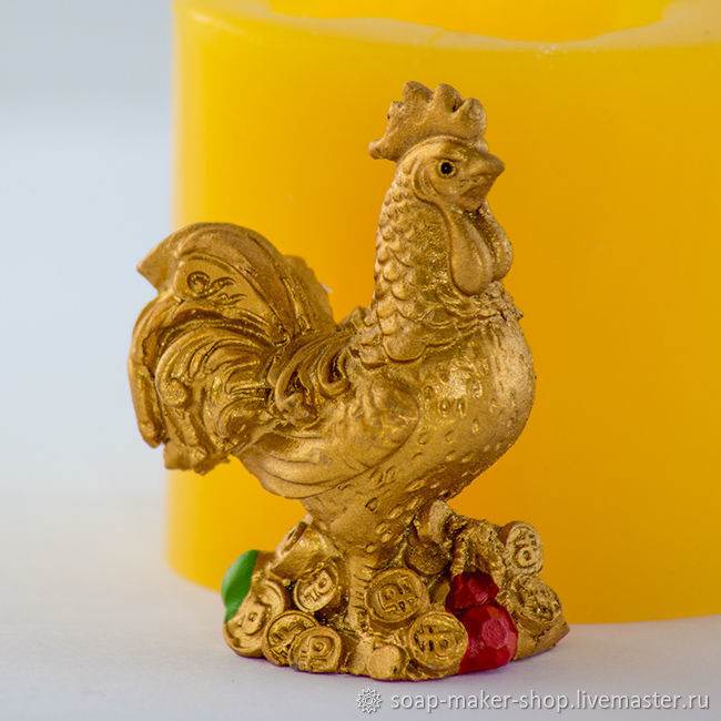 Silicone mold for soap 'Cock 3D', Form, Shahty,  Фото №1