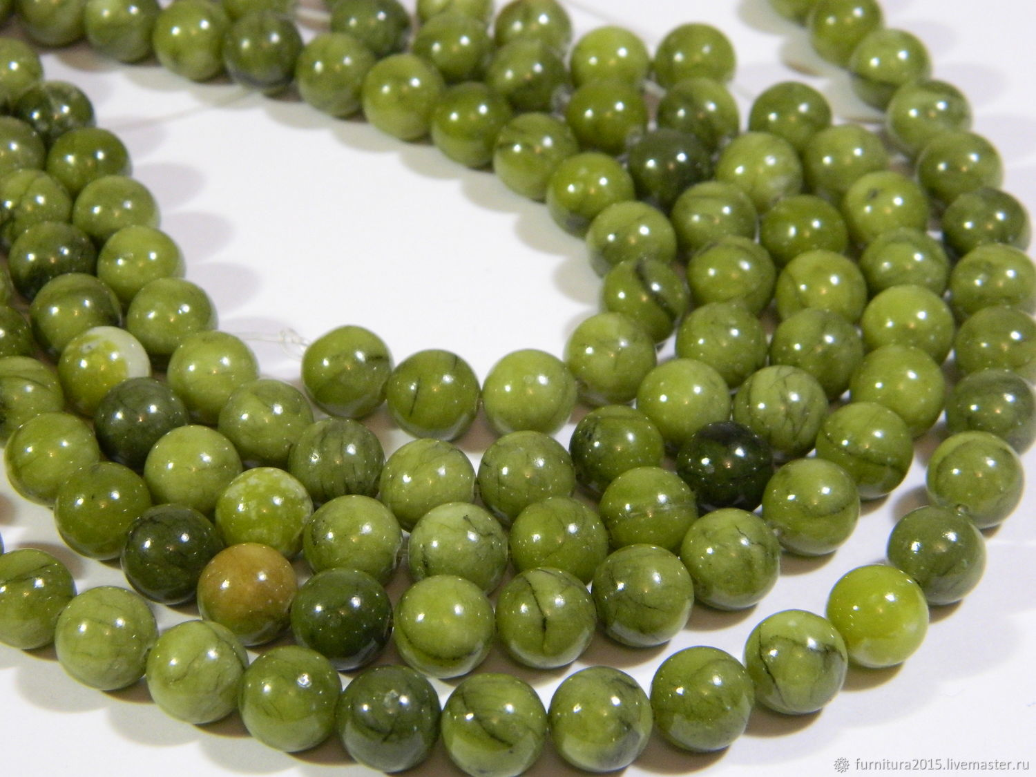 Jade beads 10,5 mm.( NF125) PCs, Beads1, Saratov,  Фото №1
