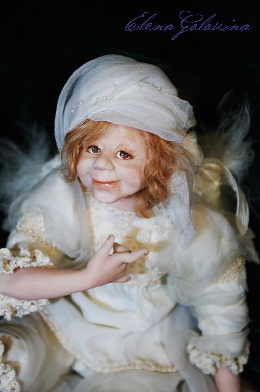 """Коллекционные куклы ручной работы. Ярмарка Мастеров - ручная работа. Купить Кукла """"Очень лукавый ангел"""". Handmade. Авторская кукла"""