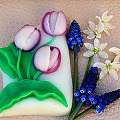"""Косметика ручной работы. Ярмарка Мастеров - ручная работа Сувенироне мыло """"Тюльпаны"""". Handmade."""