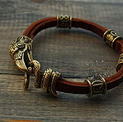 Украшения handmade. Livemaster - original item Bracelet with the runes and Raven. Handmade.
