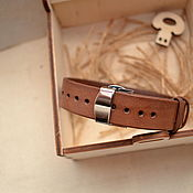 Украшения handmade. Livemaster - original item Men`s Leather Bracelet Adjustable. Handmade.