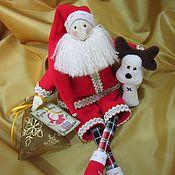 Куклы и игрушки ручной работы. Ярмарка Мастеров - ручная работа Санта Клаус и оленёнок новогодние. Handmade.