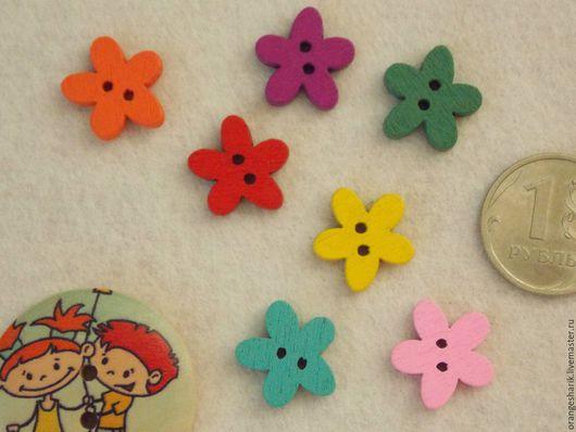 Другие виды рукоделия ручной работы. Ярмарка Мастеров - ручная работа. Купить Пуговицы деревянные Цветочки. Handmade. Пуговицы
