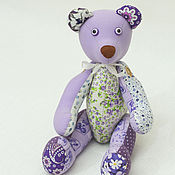 Куклы и игрушки ручной работы. Ярмарка Мастеров - ручная работа Сиреневый медведь-дружище. Handmade.