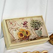 Для дома и интерьера handmade. Livemaster - original item Casket Morning of Provence cream solid pine. Handmade.