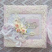 Канцелярские товары handmade. Livemaster - original item Photo albums: wedding album. Handmade.