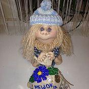 Куклы и игрушки ручной работы. Ярмарка Мастеров - ручная работа Домовенок ручной работы с мешком счастья. Handmade.