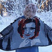 """Одежда ручной работы. Ярмарка Мастеров - ручная работа куртка туника """"Бабочки в Снегу"""". Handmade."""