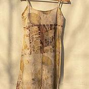 """Одежда ручной работы. Ярмарка Мастеров - ручная работа Сарафан """"Поступь лета"""" эко принт. Handmade."""