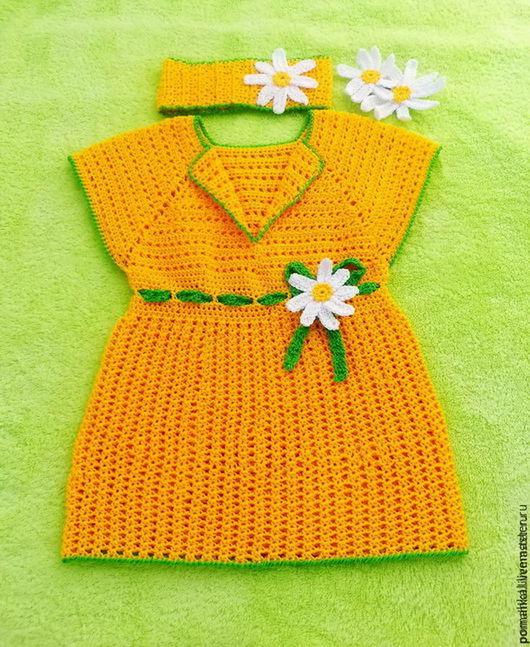 Платье для девочки `Моя Ромашечка`  Кристина