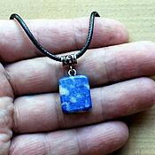 Украшения handmade. Livemaster - original item Natural Blue-white Lapis Lazuli Necklace. Handmade.
