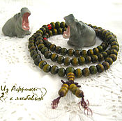 Фен-шуй и эзотерика handmade. Livemaster - original item Beads of sandalwood (green). Handmade.