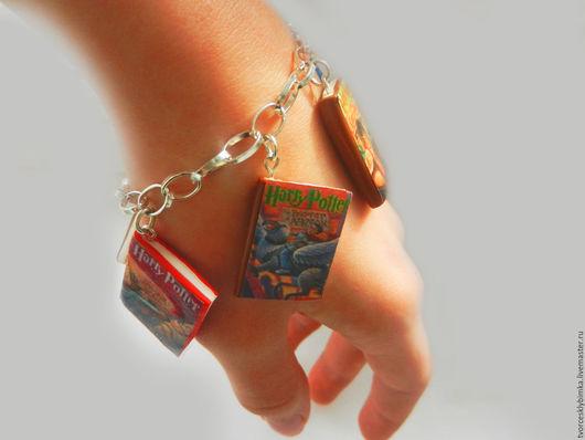 """Браслеты ручной работы. Ярмарка Мастеров - ручная работа. Купить Браслет """"Книги Гарри Поттера"""". Handmade. Разноцветный, браслет"""