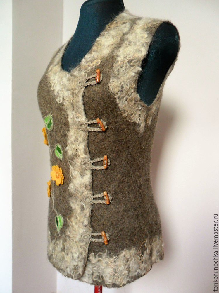 Felted vest from dog's wool 9hoR3F5vE4