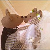 Куклы и игрушки ручной работы. Ярмарка Мастеров - ручная работа Свадебная пара. Медведи.. Handmade.
