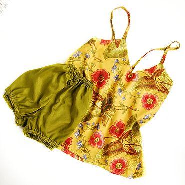 """Одежда ручной работы. Ярмарка Мастеров - ручная работа Пижама хлопок """" Аленький цветочек 2"""". Handmade."""