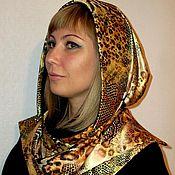 Аксессуары handmade. Livemaster - original item Hood,bonnet silk. Handmade.