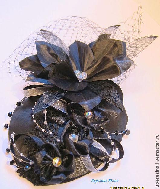 Шляпы ручной работы. Ярмарка Мастеров - ручная работа. Купить Шляпка 2. Handmade. Черный, шляпка, шляпка женская