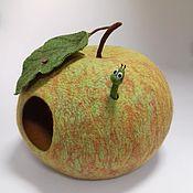 handmade. Livemaster - original item Felted cat house for the Green Apple. Handmade.
