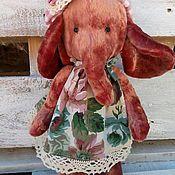Чердачная кукла ручной работы. Ярмарка Мастеров - ручная работа Винтажный плюшевый слоник. Handmade.