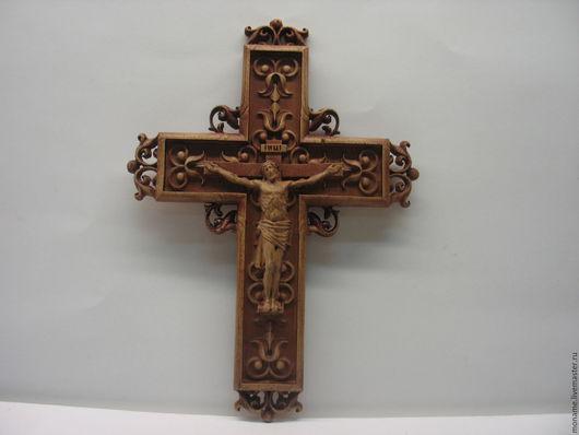 Иконы ручной работы. Ярмарка Мастеров - ручная работа. Купить Резной крест с распятием. (Настенный АРТ.001). Handmade. Крест
