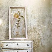 Картины и панно ручной работы. Ярмарка Мастеров - ручная работа картина пастелью Натюрморт с яблоком (в раме, бежевый оливковый). Handmade.